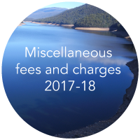 Miscellaneous feed and charges 2017-18