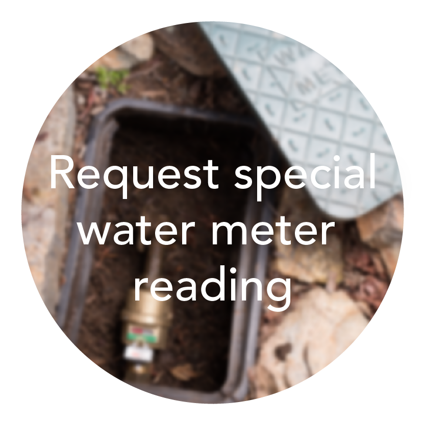 special water meter reading