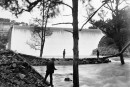 The overflowing Cotter Dam in 1926