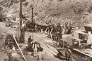 Workers on the original Cotter Dam