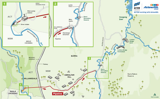 Murrumbidgee to Googong Water Transfer Project diagram