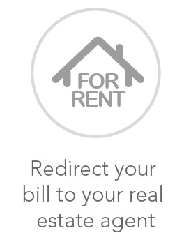 redirect your bill to your real estate agent