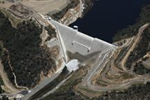 Enlarged Cotter Dam Aerial 2013
