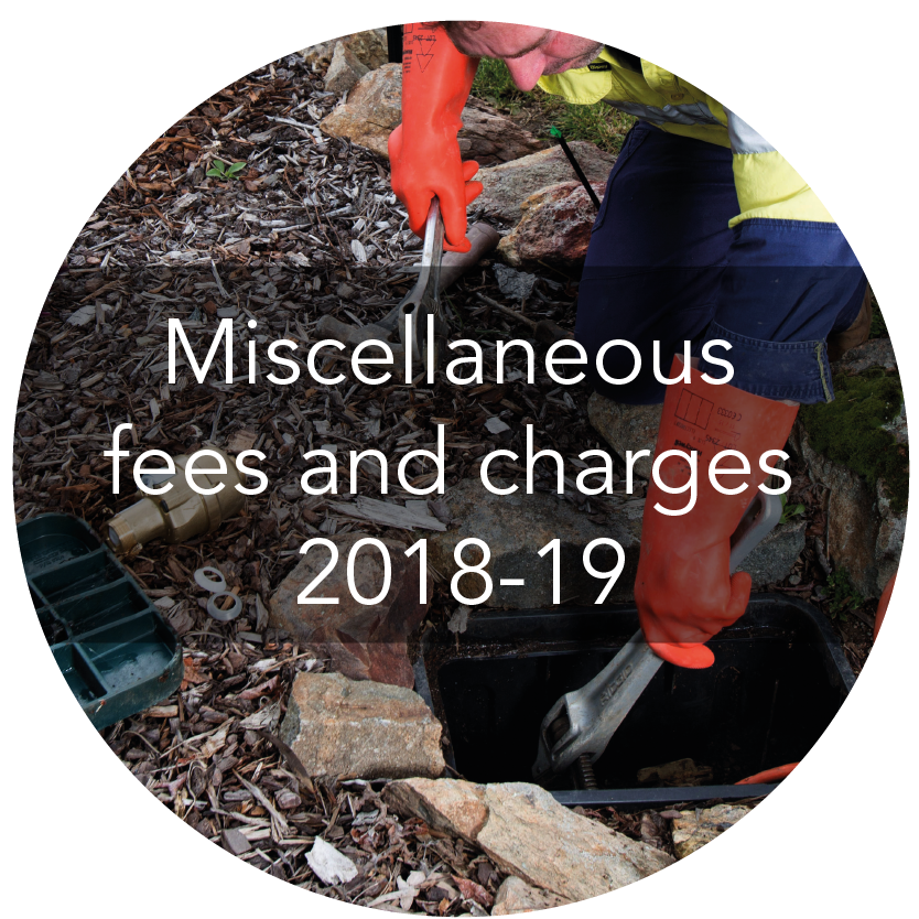 Miscellaneous fees and charges 2018-19